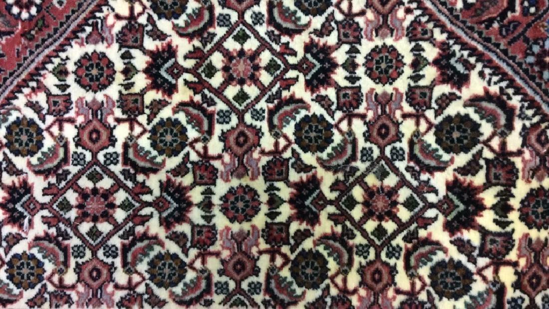 Intricately Detailed Fringed Wool Runner - 4