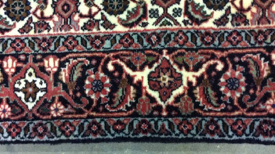 Intricately Detailed Fringed Wool Runner - 5