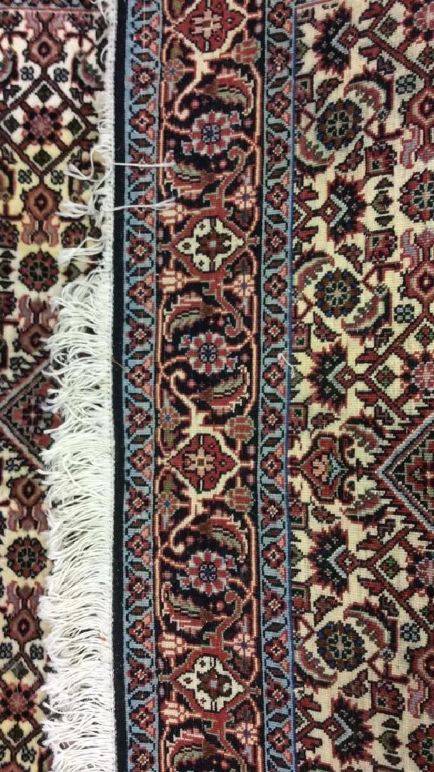 Intricately Detailed Fringed Wool Runner - 6