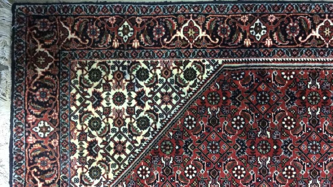 Intricately Detailed Fringed Wool Runner - 7