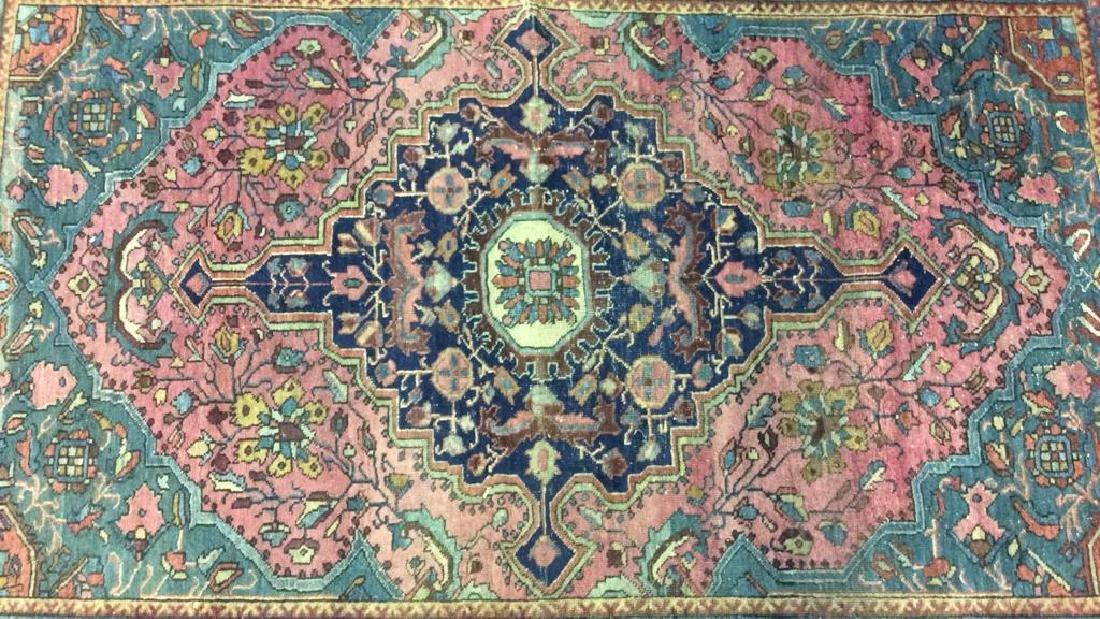 Handmade Antique Multi Toned Wool Rug