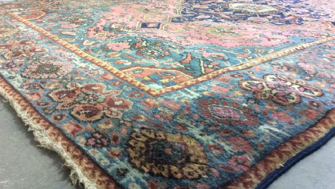 Handmade Antique Multi Toned Wool Rug - 6
