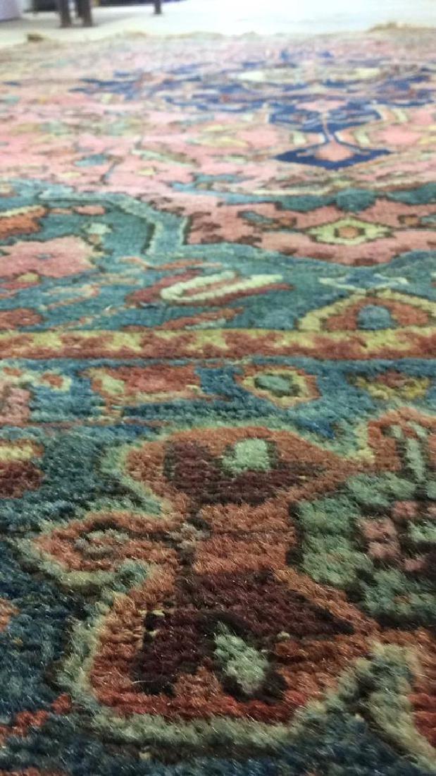 Handmade Antique Multi Toned Wool Rug - 9