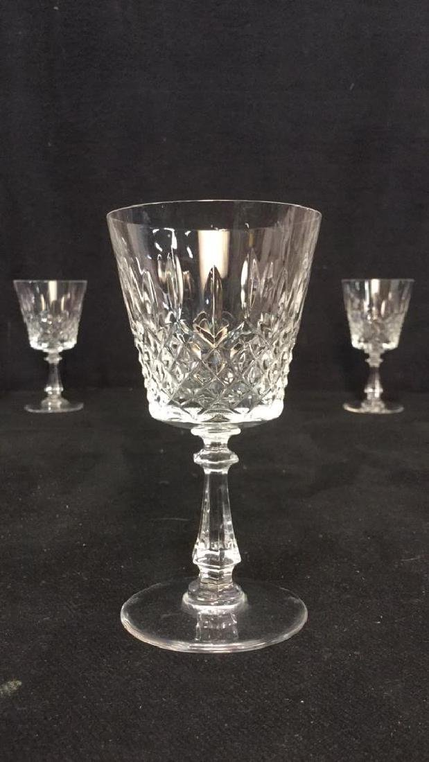 Lot 24 Cut Crystal Wine Glasses Val St Lambert - 10