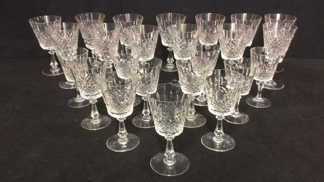 Lot 24 Cut Crystal Wine Glasses Val St Lambert