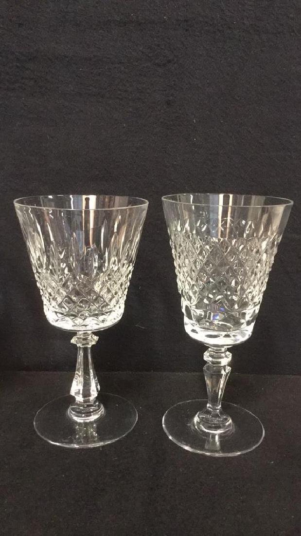 Lot 24 Cut Crystal Wine Glasses Val St Lambert - 3