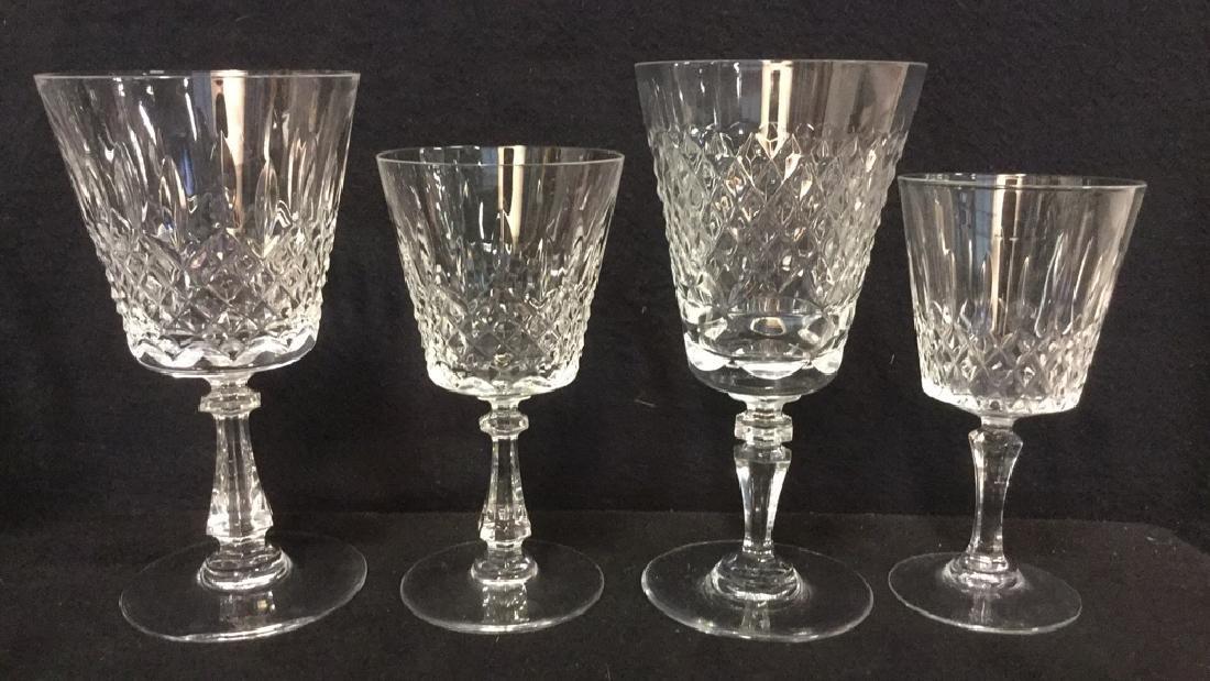 Lot 24 Cut Crystal Wine Glasses Val St Lambert - 4