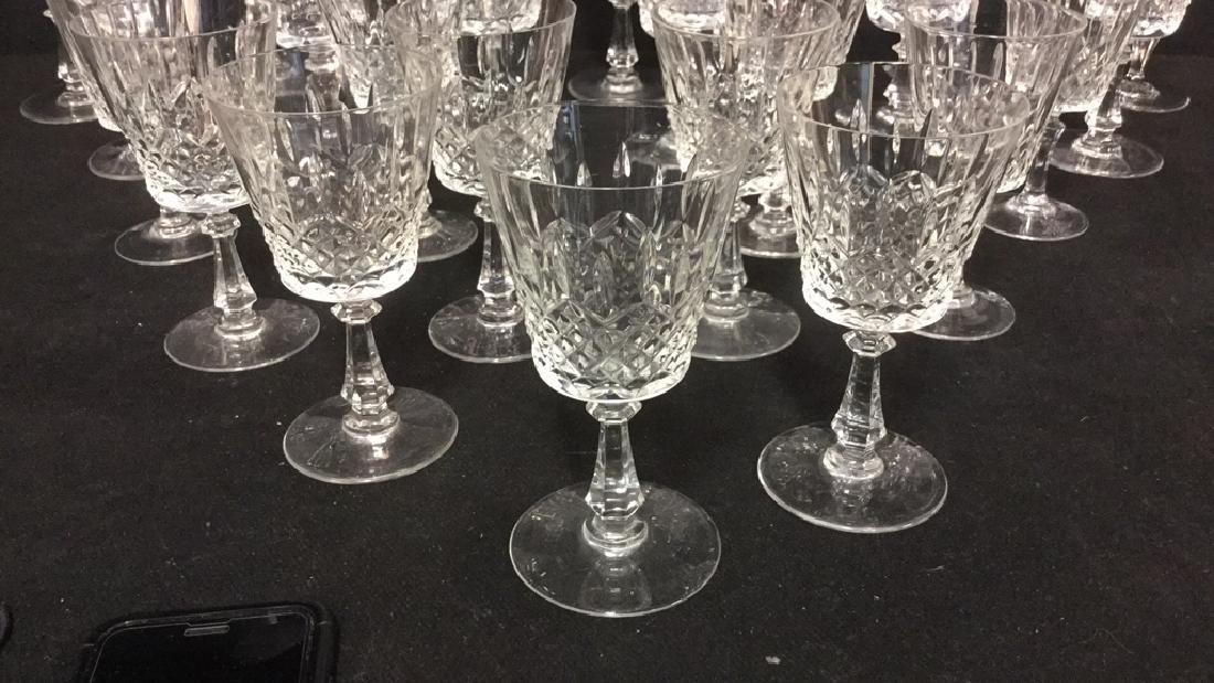 Lot 24 Cut Crystal Wine Glasses Val St Lambert - 6