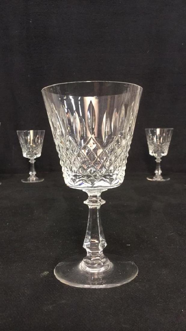 Lot 24 Cut Crystal Wine Glasses Val St Lambert - 7