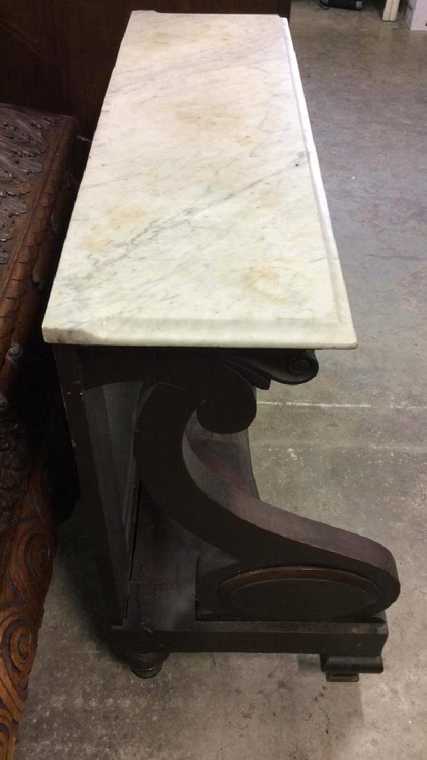 Vintage Marble Top Console Pier Table - 3