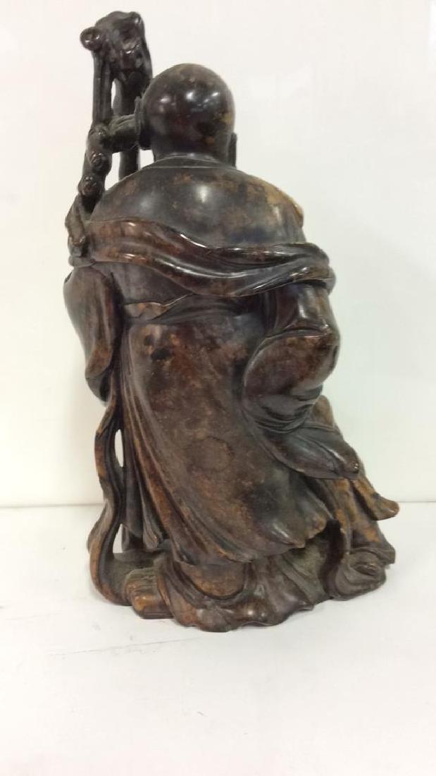 Soapstone Chinese Figure Elder W Child - 6