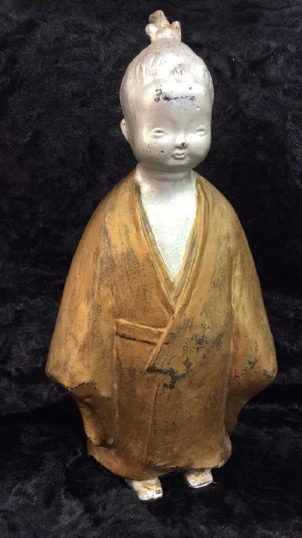 Painted Chinese Metal Child Figure