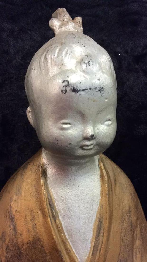 Painted Chinese Metal Child Figure - 2