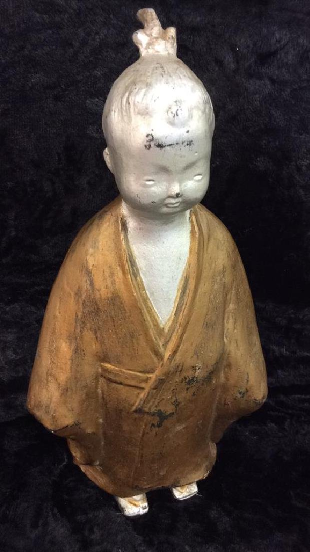 Painted Chinese Metal Child Figure - 3