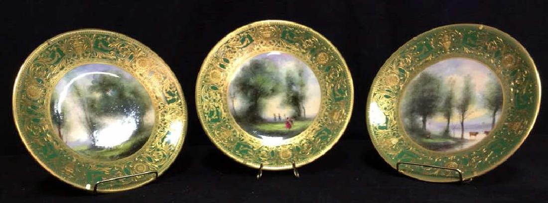 Lot 3 ROYAL WORCESTER Porcelain Plates