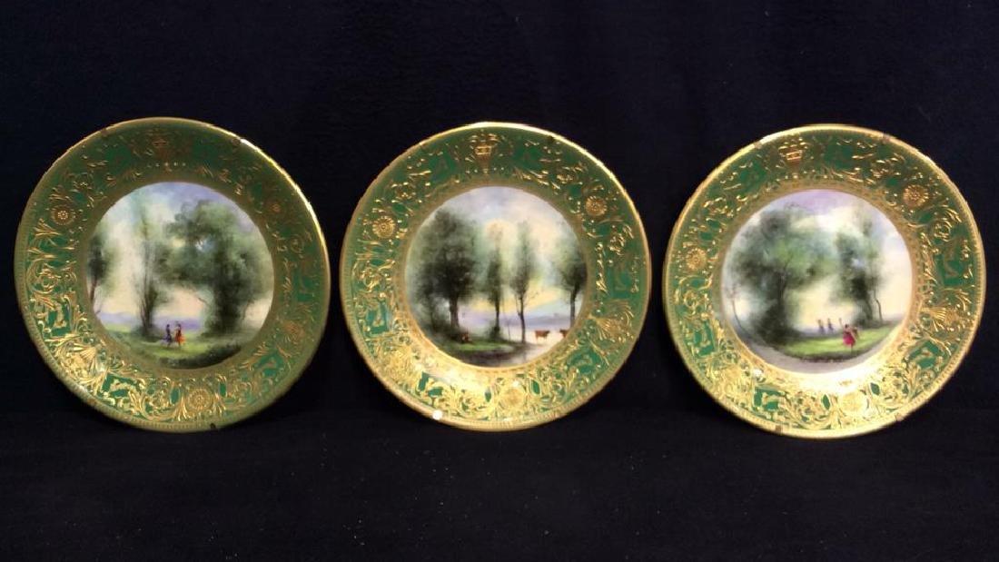 Lot 3 ROYAL WORCESTER Porcelain Plates - 5