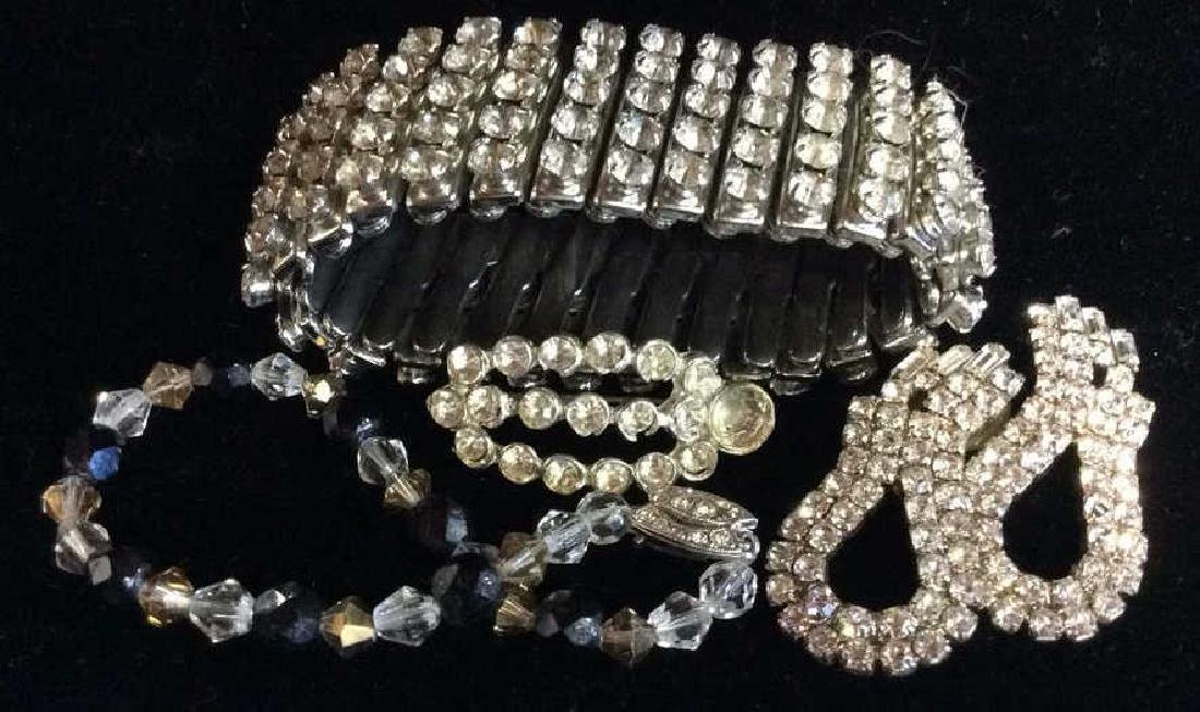 Vintage Rhinestone Estate Jewelry Group
