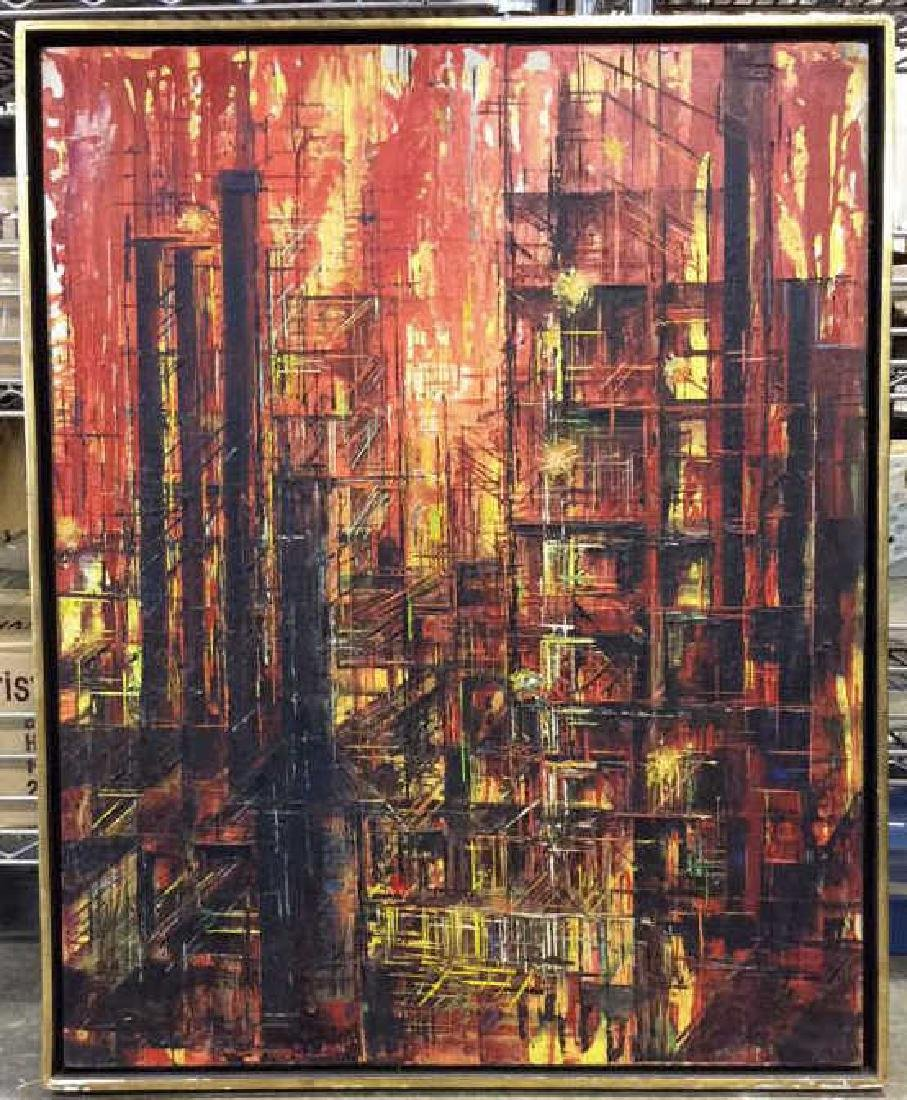 LEE LUNZER Oil on Canvas NYC City Scape