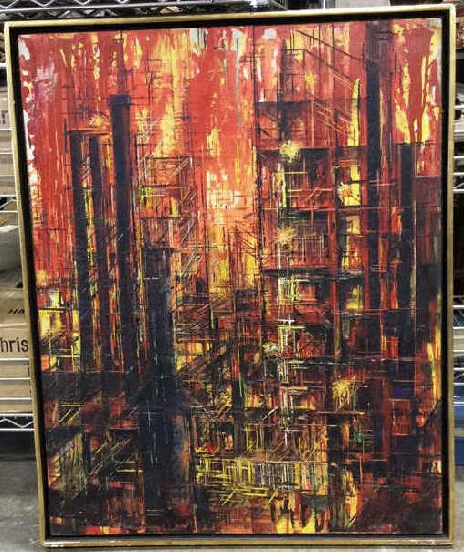 LEE LUNZER Oil on Canvas NYC City Scape - 2
