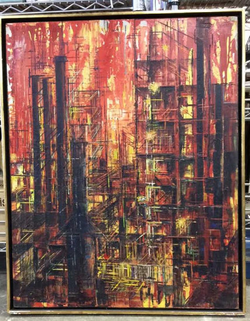 LEE LUNZER Oil on Canvas NYC City Scape - 3