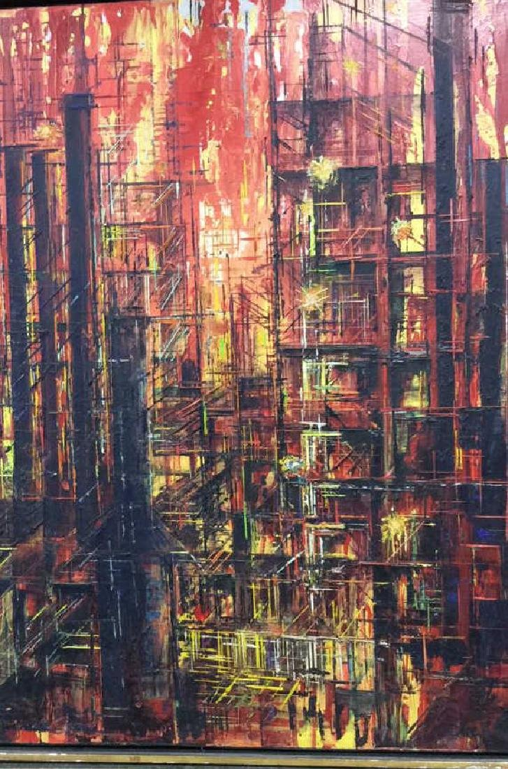LEE LUNZER Oil on Canvas NYC City Scape - 4