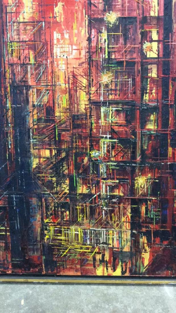 LEE LUNZER Oil on Canvas NYC City Scape - 5