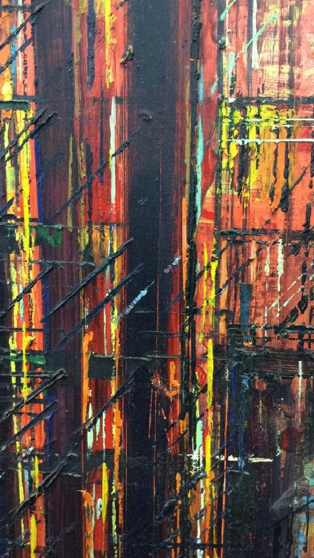 LEE LUNZER Oil on Canvas NYC City Scape - 9