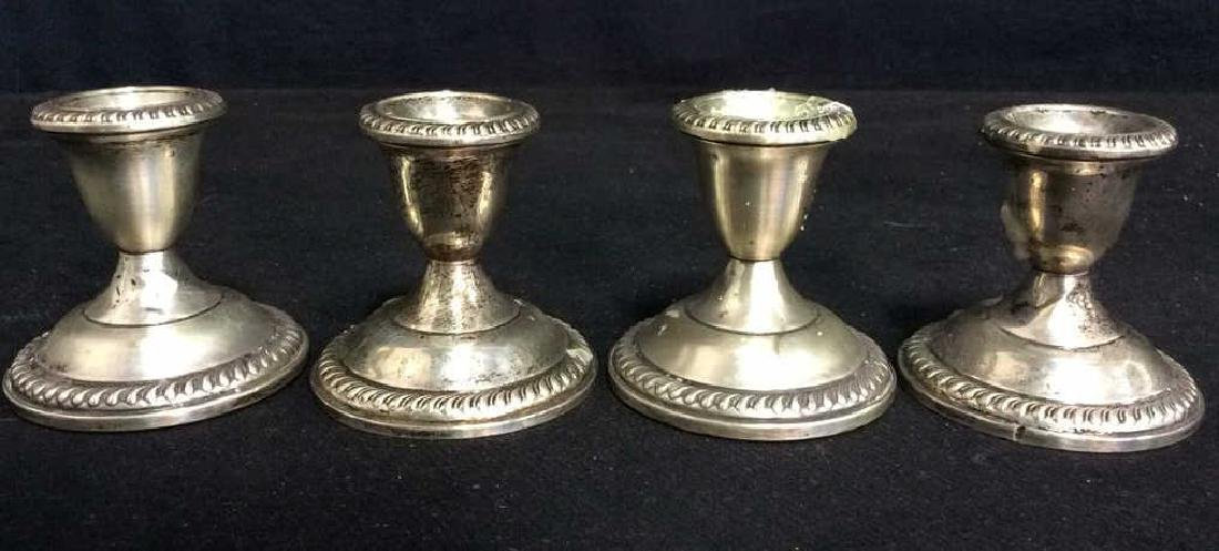 Set 4 EMPIRE Sterling Weighted Candlesticks