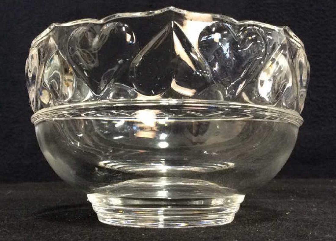 TIFFANY & CO Crystal Hearts By Tiffany Bowl