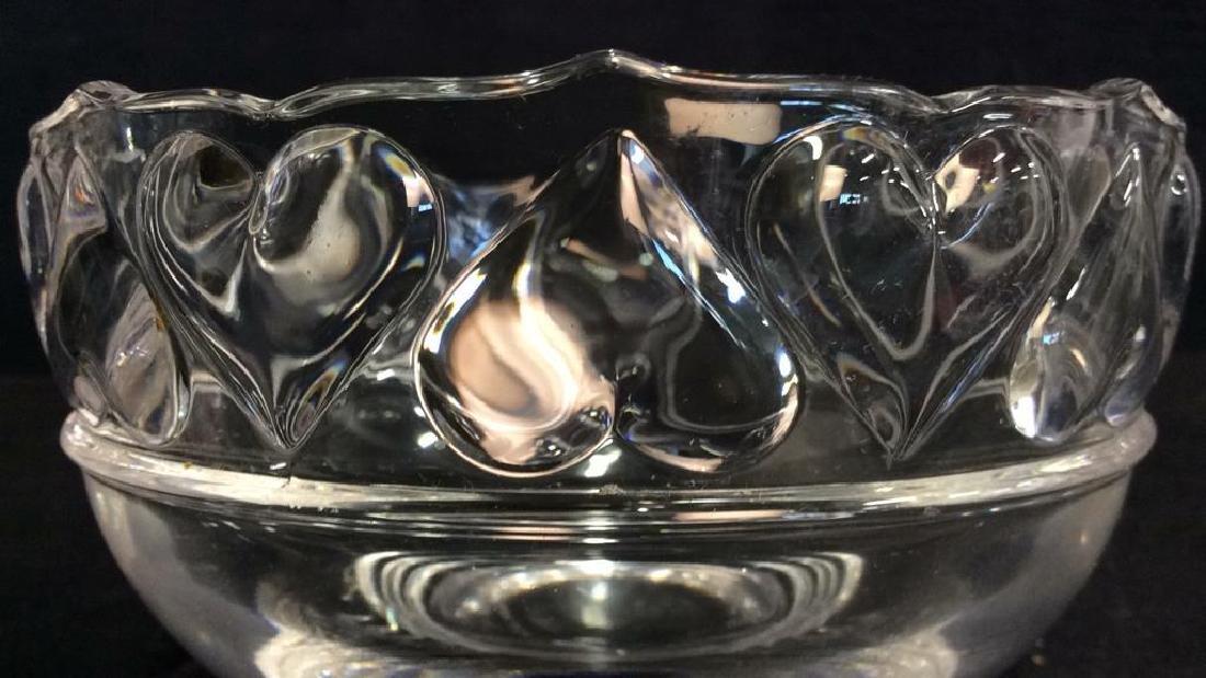 TIFFANY & CO Crystal Hearts By Tiffany Bowl - 4
