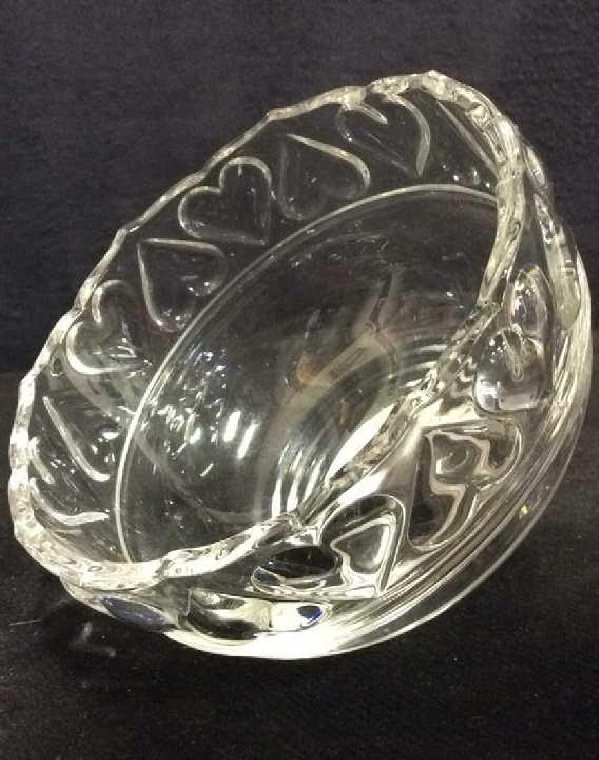 TIFFANY & CO Crystal Hearts By Tiffany Bowl - 8
