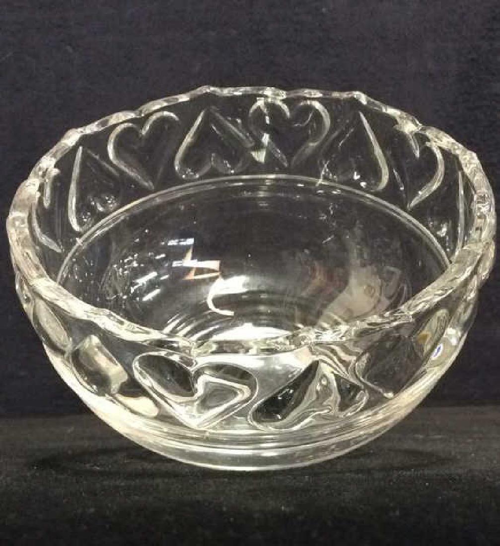TIFFANY & CO Crystal Hearts By Tiffany Bowl - 9