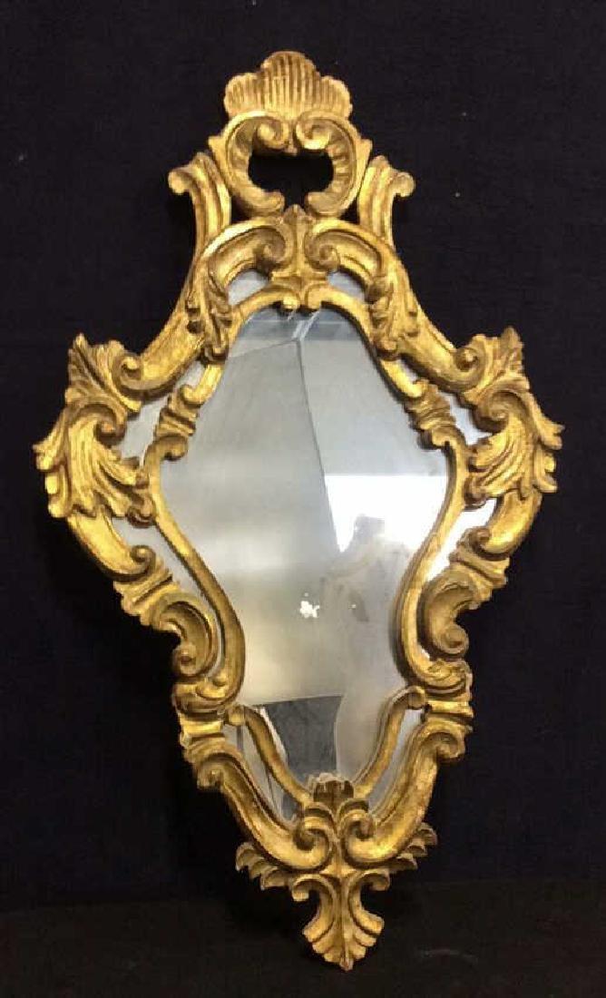 Antique Ornately Carved Gold Leafed Mirror