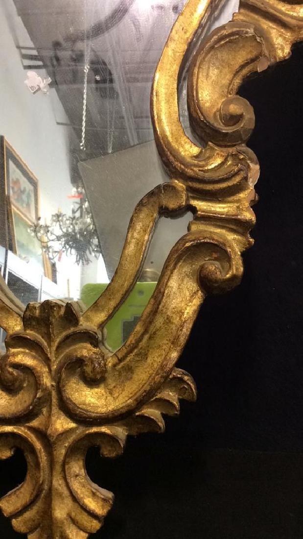Antique Ornately Carved Gold Leafed Mirror - 5