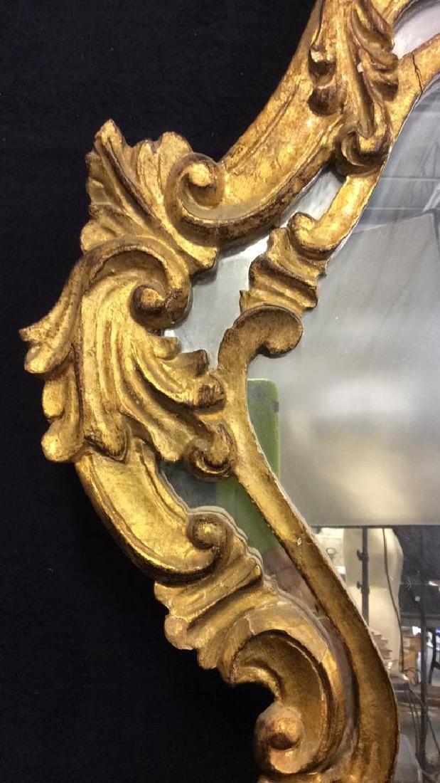 Antique Ornately Carved Gold Leafed Mirror - 6