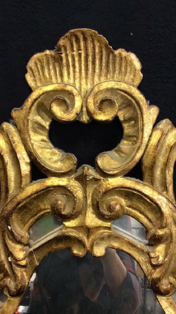 Antique Ornately Carved Gold Leafed Mirror - 7
