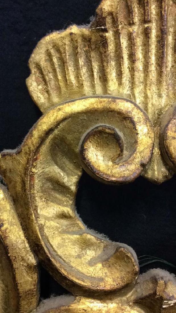 Antique Ornately Carved Gold Leafed Mirror - 8