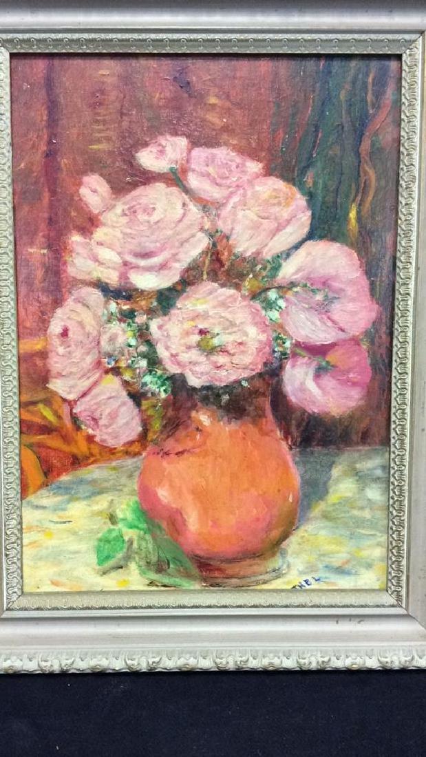 ETHEL Mid Century Still Life Oil Painting - 10