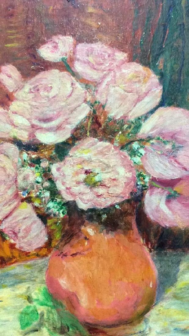 ETHEL Mid Century Still Life Oil Painting - 4