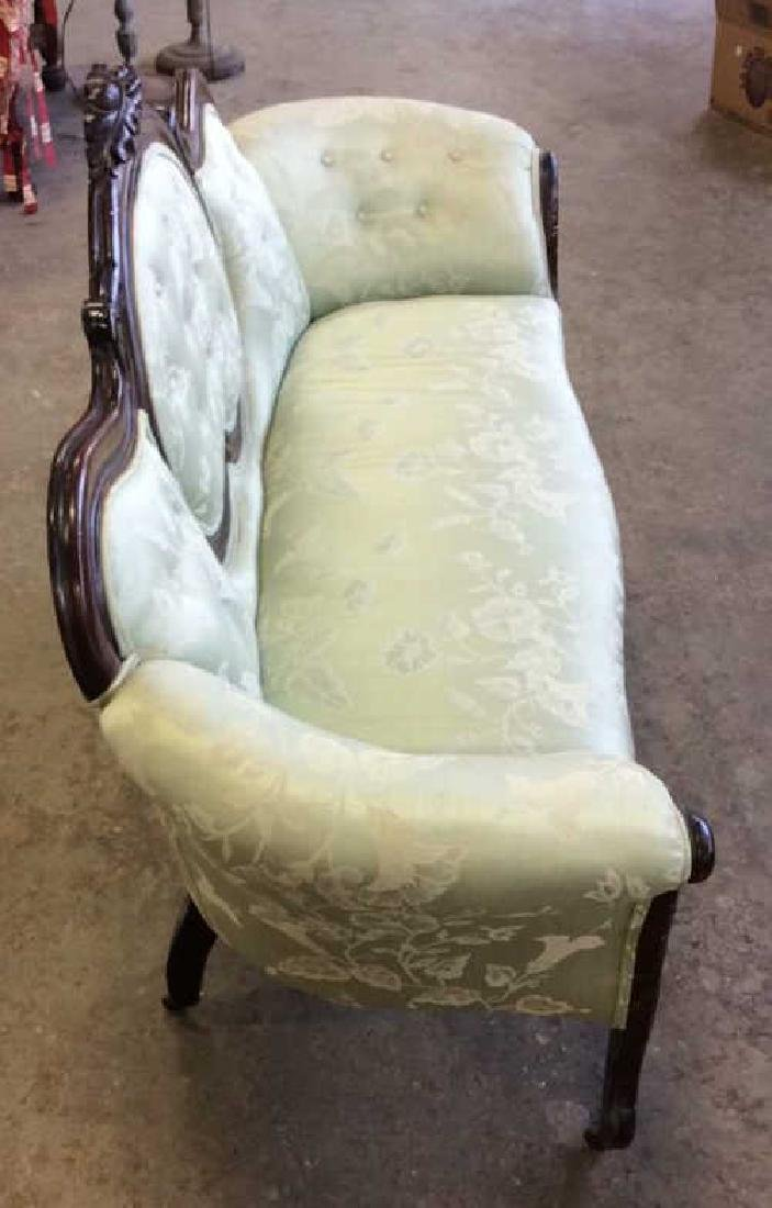 Carved Upholstered Classic Victorian Setee - 4