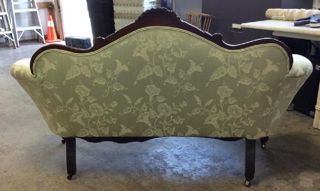 Carved Upholstered Classic Victorian Setee - 5