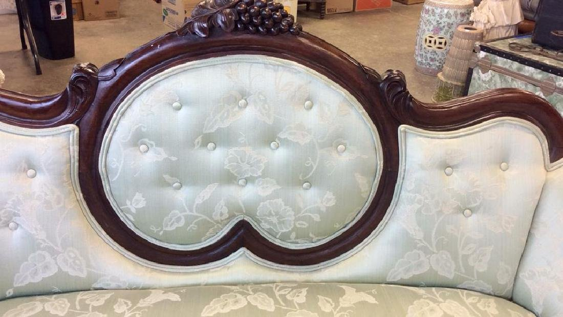 Carved Upholstered Classic Victorian Setee - 8