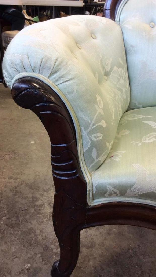 Carved Upholstered Classic Victorian Setee - 9