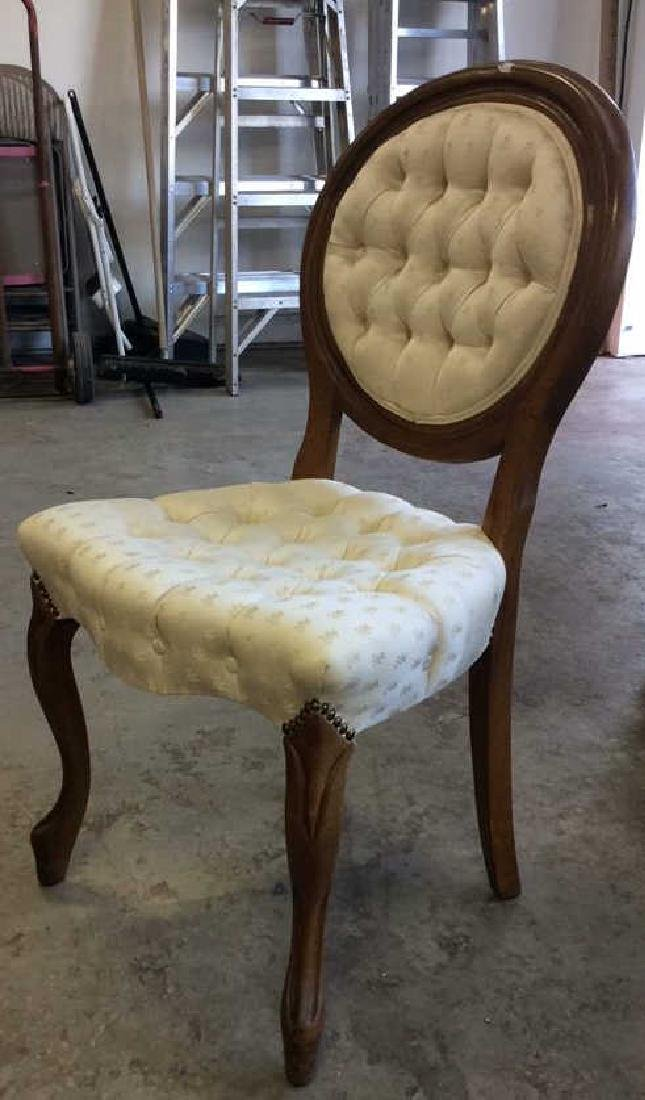 Pair Louis XIV Style Oval Back Chairs - 3