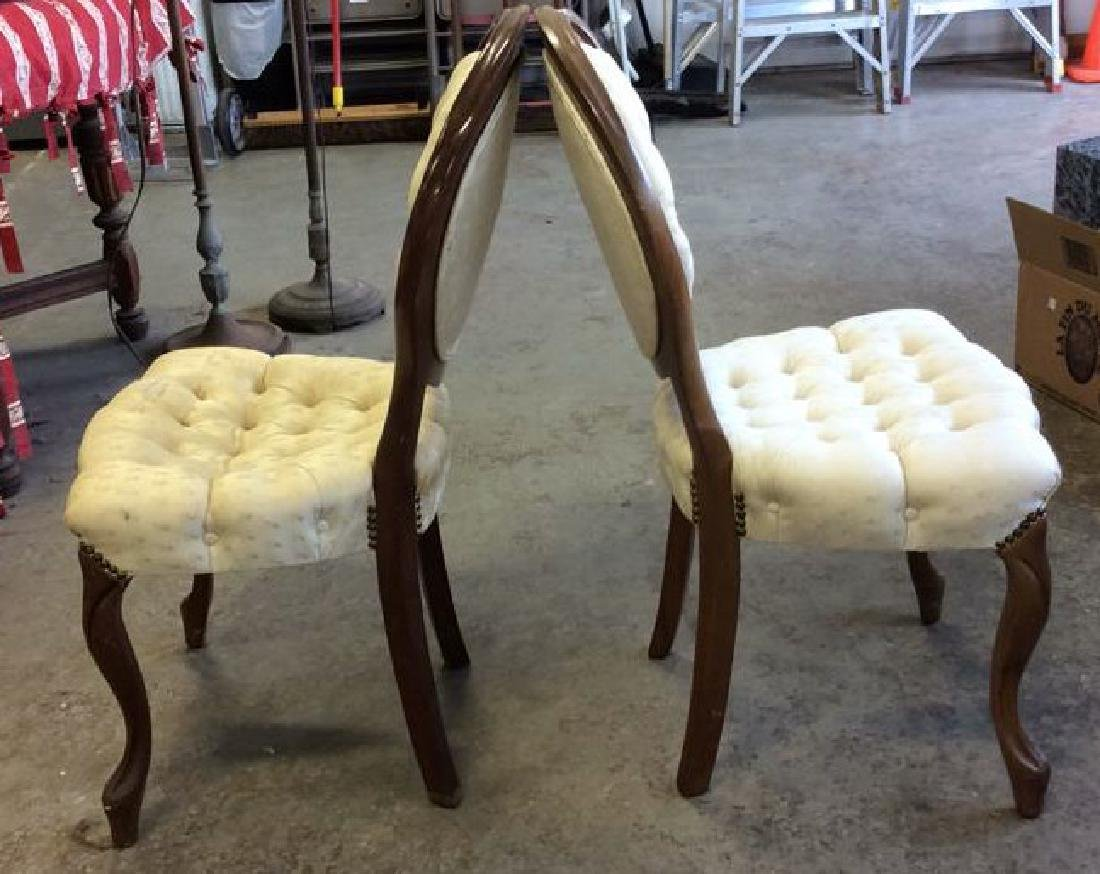 Pair Louis XIV Style Oval Back Chairs - 6