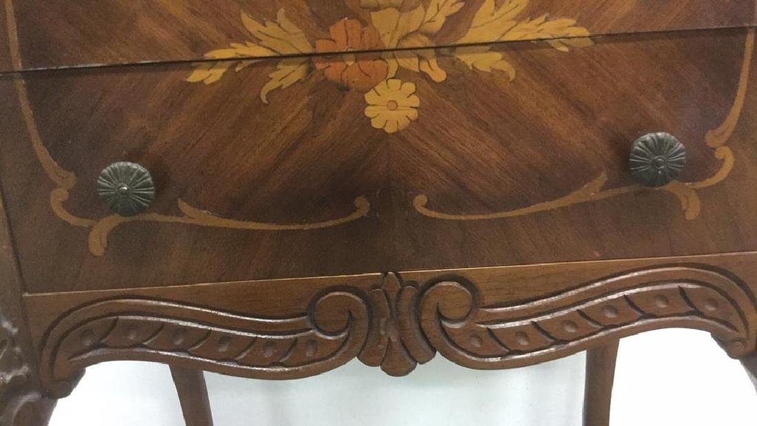 Antique Louis XV Style Marquetry Inlaid Table - 3