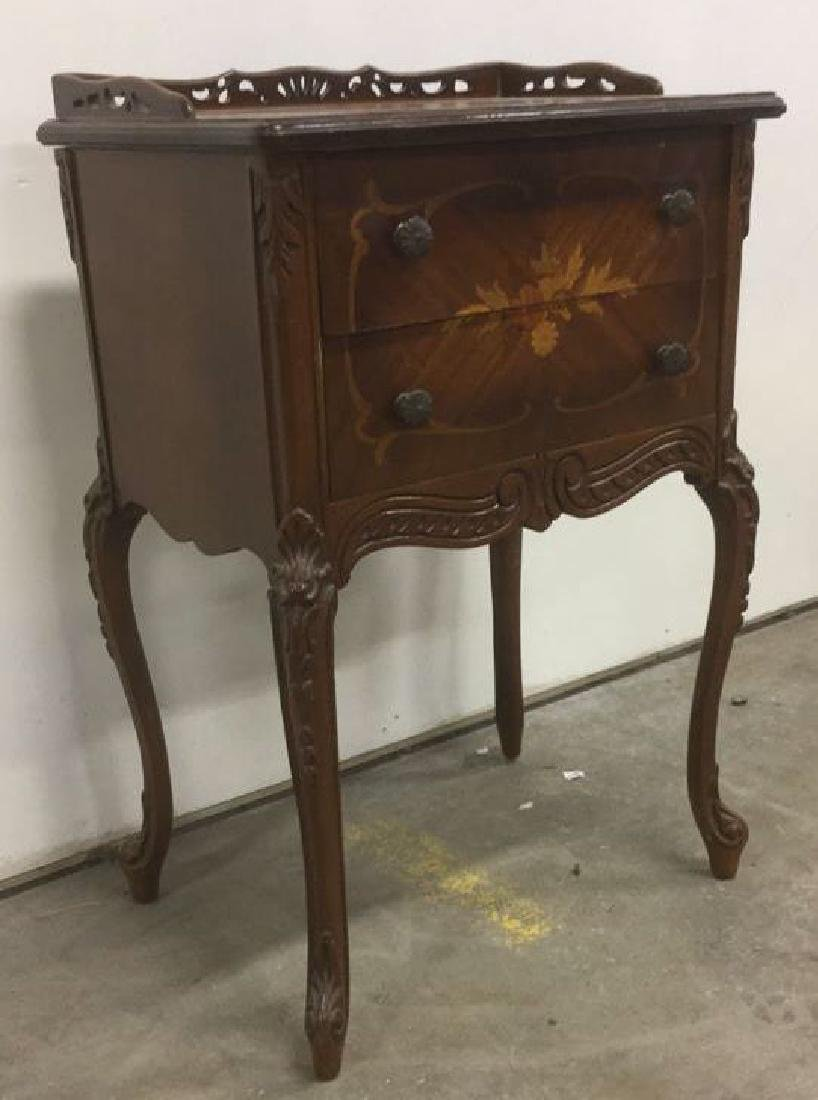 Antique Louis XV Style Marquetry Inlaid Table - 7