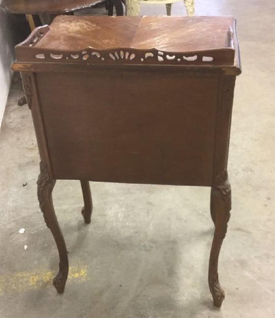 Antique Louis XV Style Marquetry Inlaid Table - 8