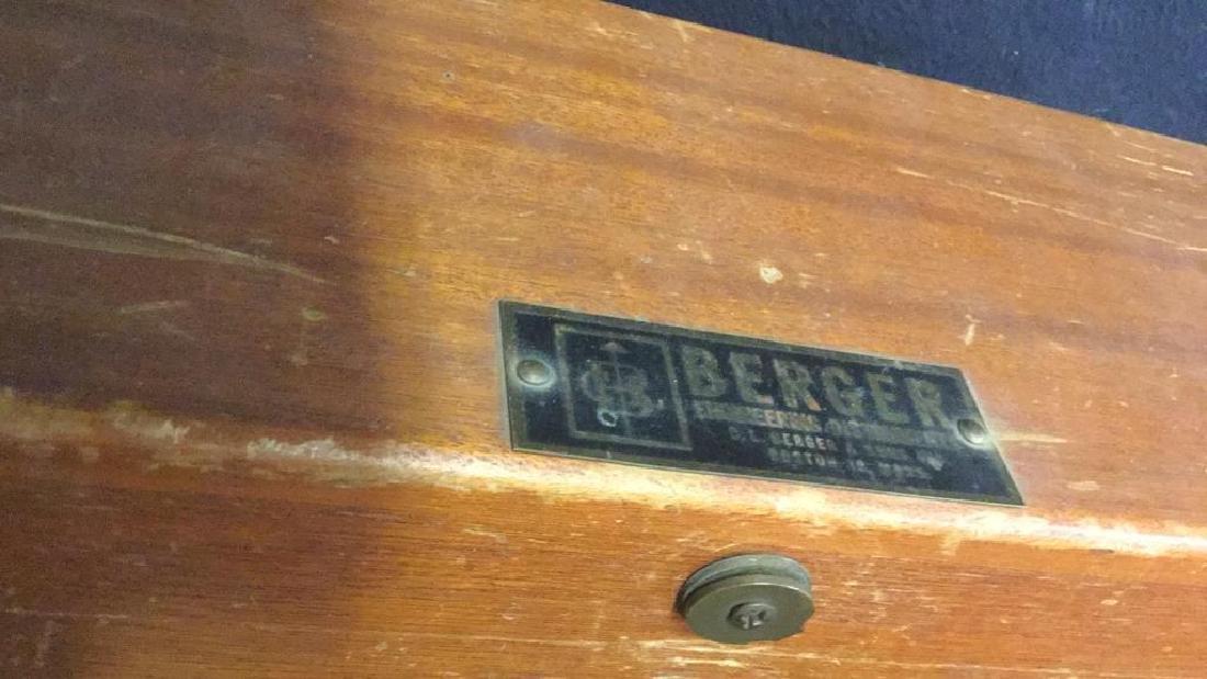 Poss Vintage BERGER Surveying Tool w Box - 9