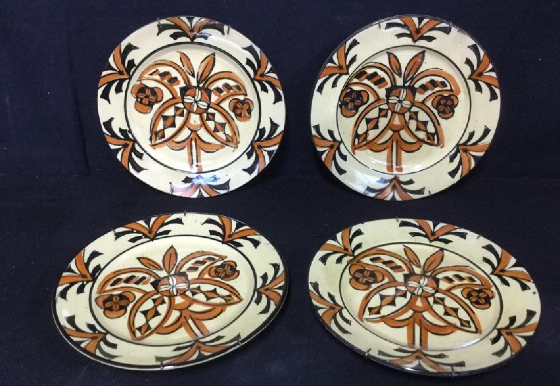 Lot 4 Vintage Japanese Hand Painted Plates
